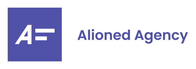 alioned with text logo